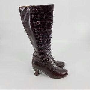 Miz Mooz dark burgundy tall leather boots
